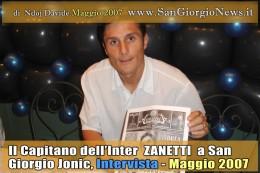 Intervista al Capitano dell'Inter Javier Adelmar Zanetti