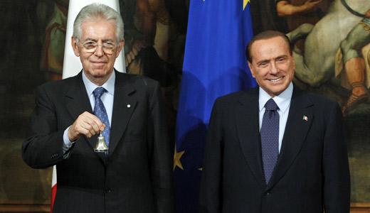Mario Monti Silvio Berlusco