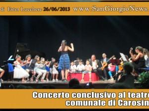Concerto conclusivo al teatro comunale di Carosino