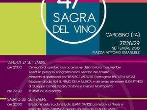IL via alla 47ª edizione della SAGRA del Vino