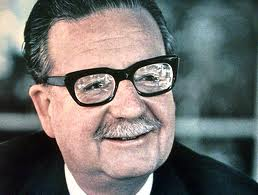 Il presidente del Cile Salvador Allende