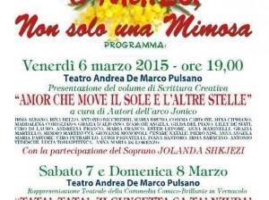 Locandina 8 marzo non solo una mimosa 2015