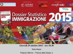 """Presentazione """"Dossier Statistico Immigrazione 2015"""""""