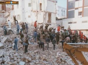 7 Febbraio 1985 macerie palazzo crollato