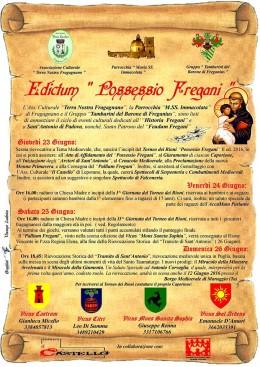 """""""Edictum Fregani"""" Un ciclo di eventi culturali  dal Medioevo ad oggi per Sant'Antonio di Padova."""