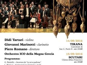 Manifesto tournee Albania ICO Magna Grecia