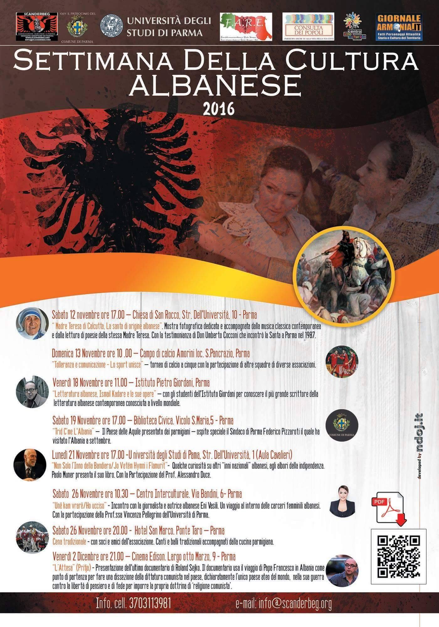settimana cultura albanese parma