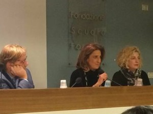 Da Sx Giacomo Ebner, Paola Donvito e Simona Ciarrocchi