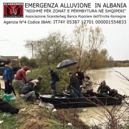 emergenza alluvione in Albania