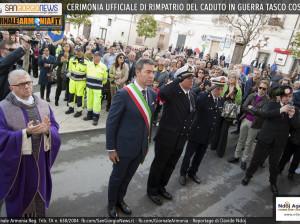 CERIMONIA UFFICIALE DI RIMPATRIO DEL CADUTO IN GUERRA TASCO COSIMO