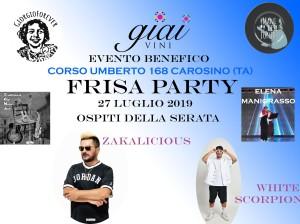 GIAI FRISA PARTY 27 LUGLIO CAROSINO EVENTO BENEFICO