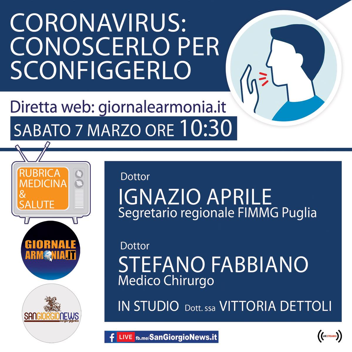 CORONAVIRUS--CONOSCERLO-PER--SCONFIGGERLO----DIRETTA