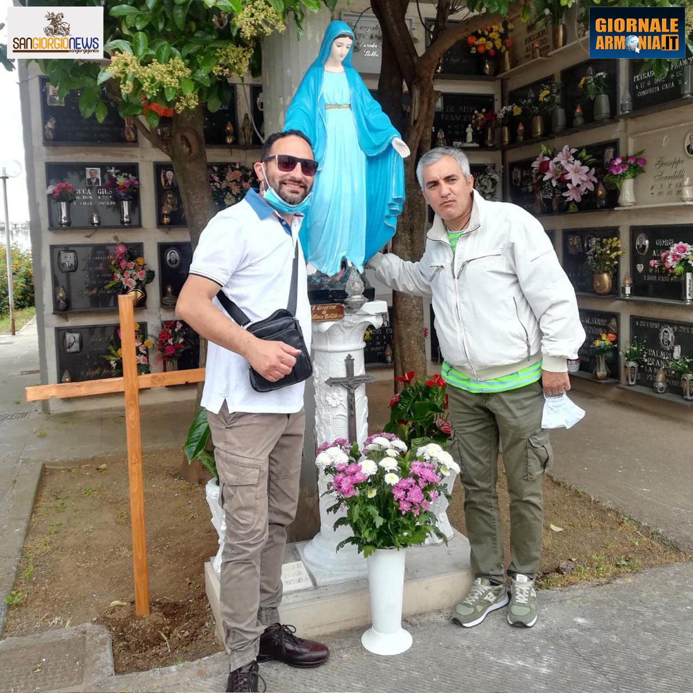 RESTAURATA LA MADONNINA DEL CIMITERO COMUNALE SAN GIORGIO IONICO (1)