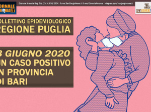 8 GIUGNO 2020 REGIONE PUGLIA SOLO UN CASO POSITIVO IN PROVINCIA DI BARI