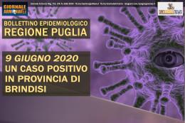 9 GIUGNO 2020 REGIONE PUGLIA UN CASO POSITIVO IN PROVINCIA DI BRINDISI