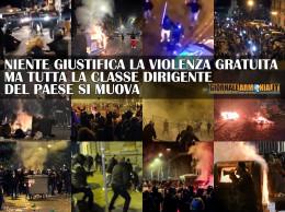 NIENTE GIUSTIFICA LA VIOLENZA GRATUITA - MA TUTTA LA CLASSE DIRIGENTE DEL PAESE SI MUOVA