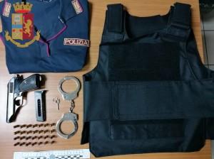 OPERAZIONE DEI FALCHI SQUADRA MOBILE RECUPERATI ARMA E ROIETTILI