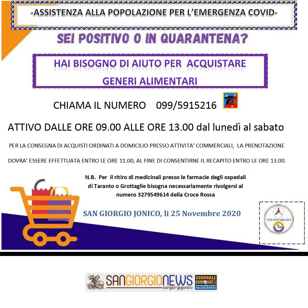 SAN GIORGIO IONICO ASSISTENZA ALLA POPOLAZIONE PER L'EMERGENZA COVID19 (2)