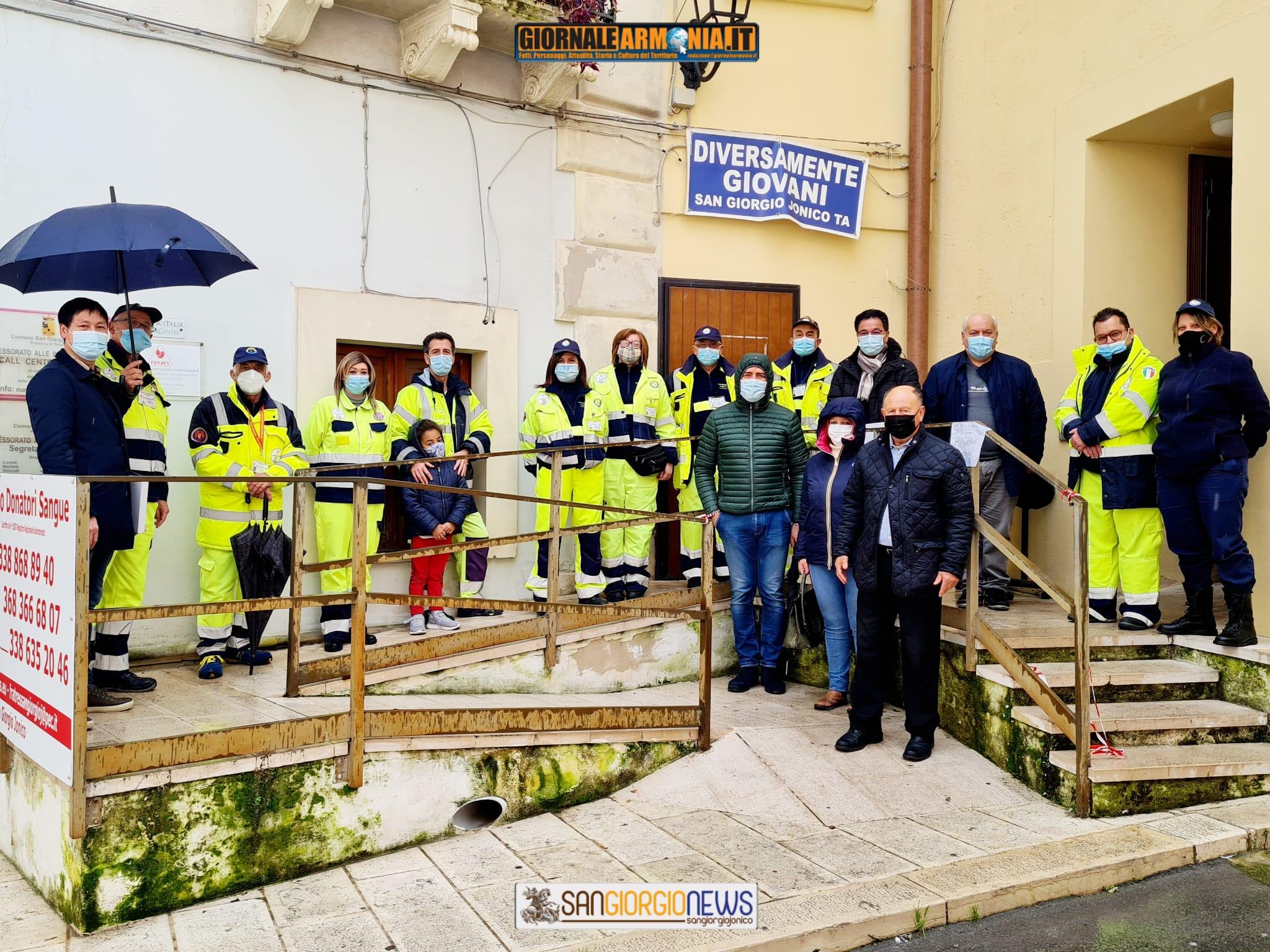 SOLIDARIETÀ E INCLUSIONE- LA DONAZIONE DEGLI OPERATORI CINESI ALLA PROTEZION3 CIVILE DI SAN GIORGIO I.