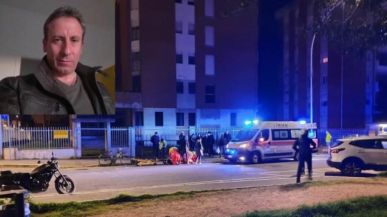 I soccorsi della Svs di via San Giovani e, in alto a sinistra, la vittima (Foto Il Tirreno)
