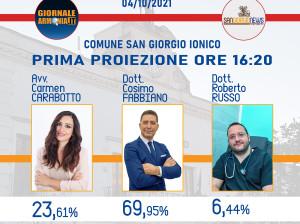 COMUNE SAN GIORGIO IONICO PRIMA PROIEZIONE ORE 1620